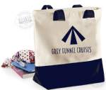 BG683-Canvas Tote bag- GREY FUNNEL CRUISES